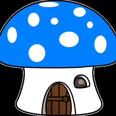 Niebieski Muchomorek -symbol Grupy Smerfy