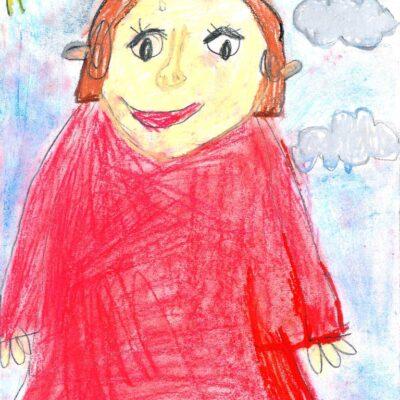 portret rysowany przez dziecko
