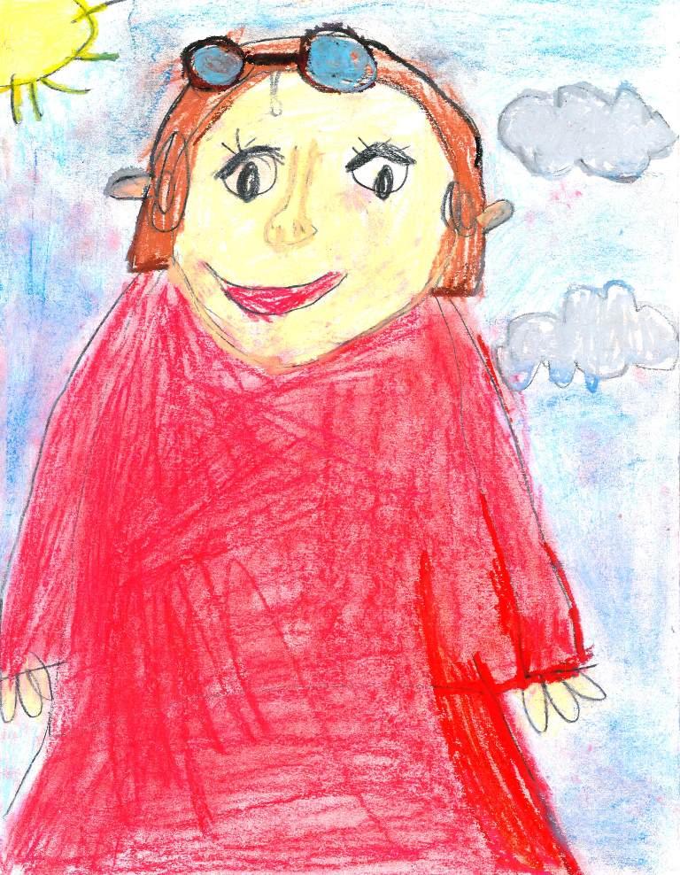 portret rysowany przezdziecko
